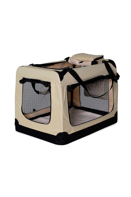 Beige (XXL) 90x61x65 cmdibea TB10035 Dog Transport Box Dog Folding Car Box for Small Animals (Size and Colour), bluee