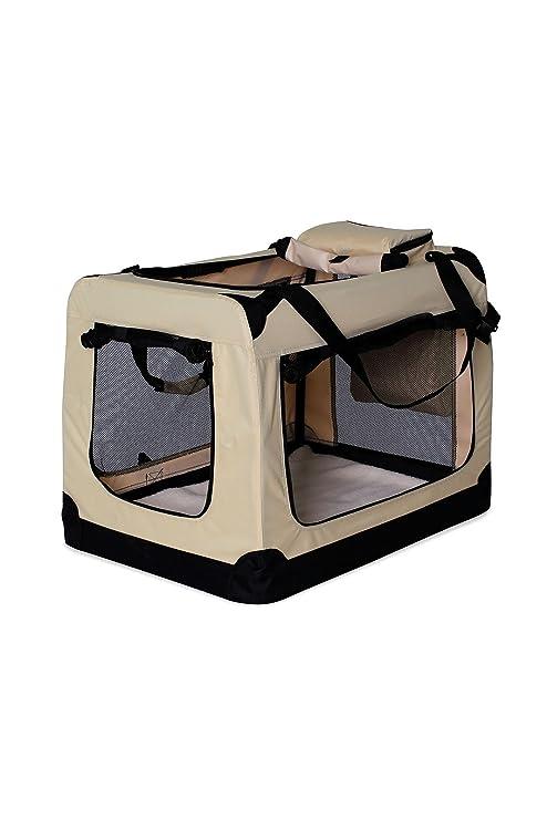dibea TB10045 Bolsa de Transporte para Perros y Gatos, Beige, (XXXL) 101x69x70