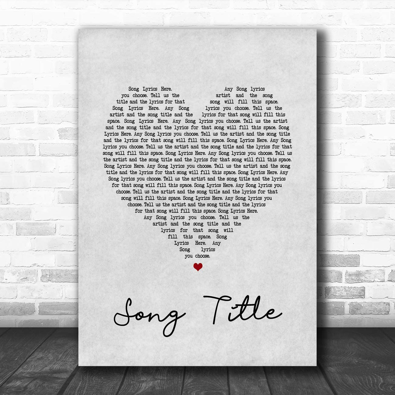 The Cure Lovesong Song Print Lyrics Art NO FRAME Lyrics Poster