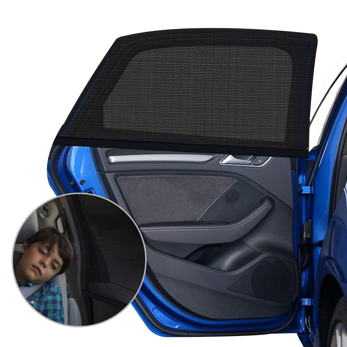 Sonnenschutz Auto Baby Mit Uv Schutz 2 Stück Sonnenschutz Auto Für Kinder Erwachsene Haustiere Mit Uv Schutz Blendschutz 40 X20 Für Die Meisten Auto Amteker Baby