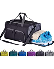 0b76321b2c3 CoCoMall Foldable Sports Gym Bag with Shoes Compartment   Wet Pocket, 45L Travel  Duffel Bag