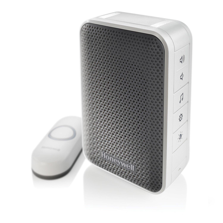 Honeywell RDWL313P2000/E Series 3 Plug-in Wireless Doorbell/Door Chime & Push Button
