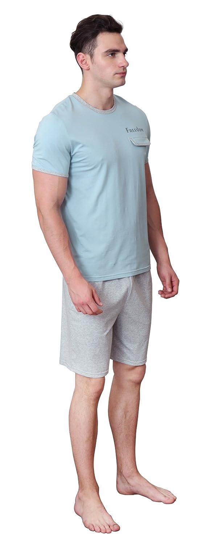 Pijamas de verano para hombres ropa de dormir corta de algodón suave Ropa de dormir cómoda: Amazon.es: Ropa y accesorios
