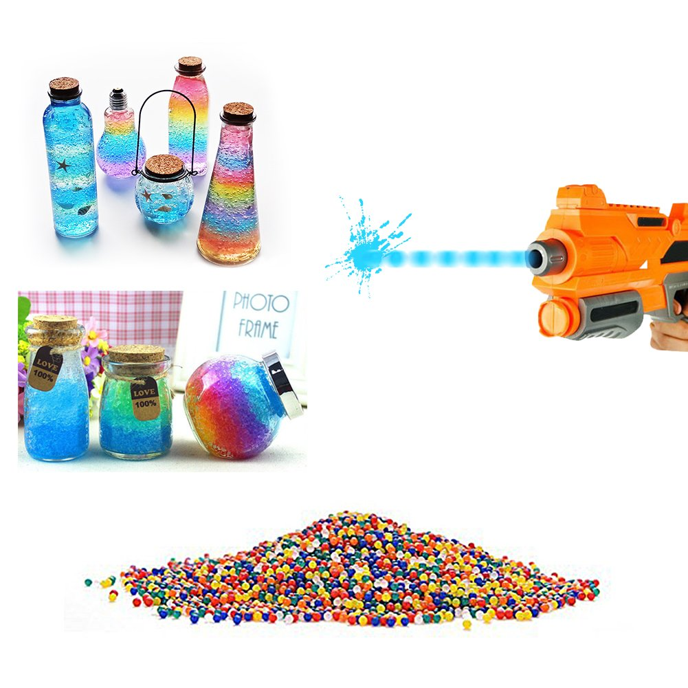 10000pcs / paquete 9-13m m Orbeez color suave de cristal de paintball agua bala arma crecen las bolas de agua Yosoo