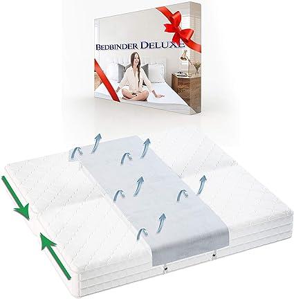 Bedbinder Deluxe Cuña Unir Colchones Blanco 60cm. Detenga El Deslizamiento De Los Colchones con Esta Conector De Camas Y Unir Dos Colchones Banda para ...