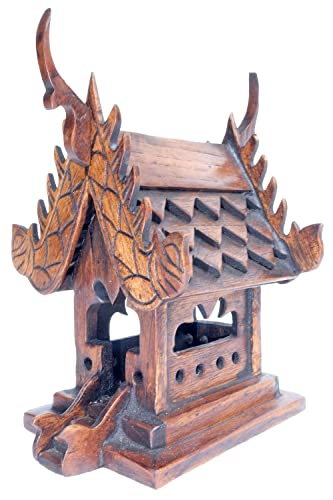 Design by UnseenThailand Thai Carving Buddhism Spirit House Temple. W4.8 xL5 xH7 , House
