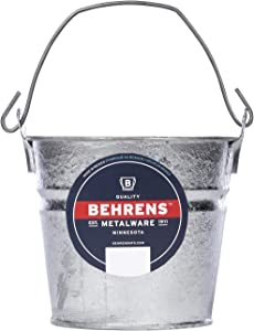 Behrens 1202 Hot-Dipped Galvanized Steel Utility Pail, 2-Quart, Silver