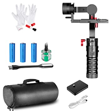 Neewer 3-Axis Brushless Handheld Gimbal Stabilizer with 3-in-1 Cleaning Kit  for Canon 5DII 5DIII Sony A7II A7R2 A7SII Nikon D750 D800 Panasonic GH4