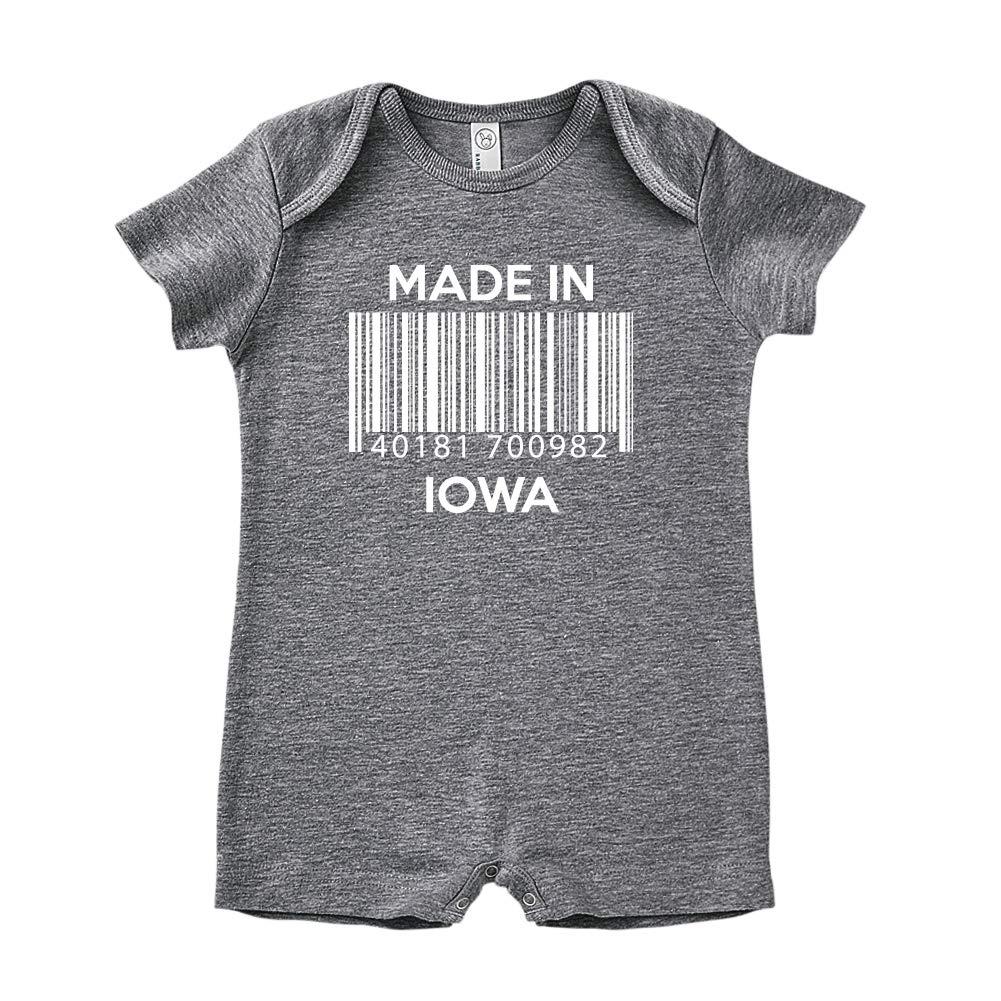 Made in Iowa Barcode Baby Romper
