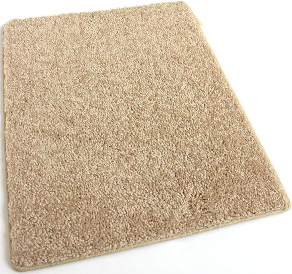 Koeckritz Area Rug Carpet. Golden Butterscotch Yellow 30 oz. Thick. 100 Polyester Fiber, Medium Density, Soft and Durable. Multiple Sizes, Shapes and Brilliant Colors.