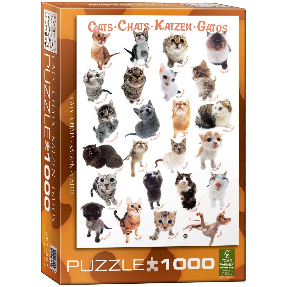 Mundo Puzzle 60 Teile Mit Katzen Puzzles & Geduldspiele
