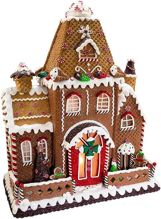 Amazon Com Kurt Adler Fancy Clay Dough Gingerbread House