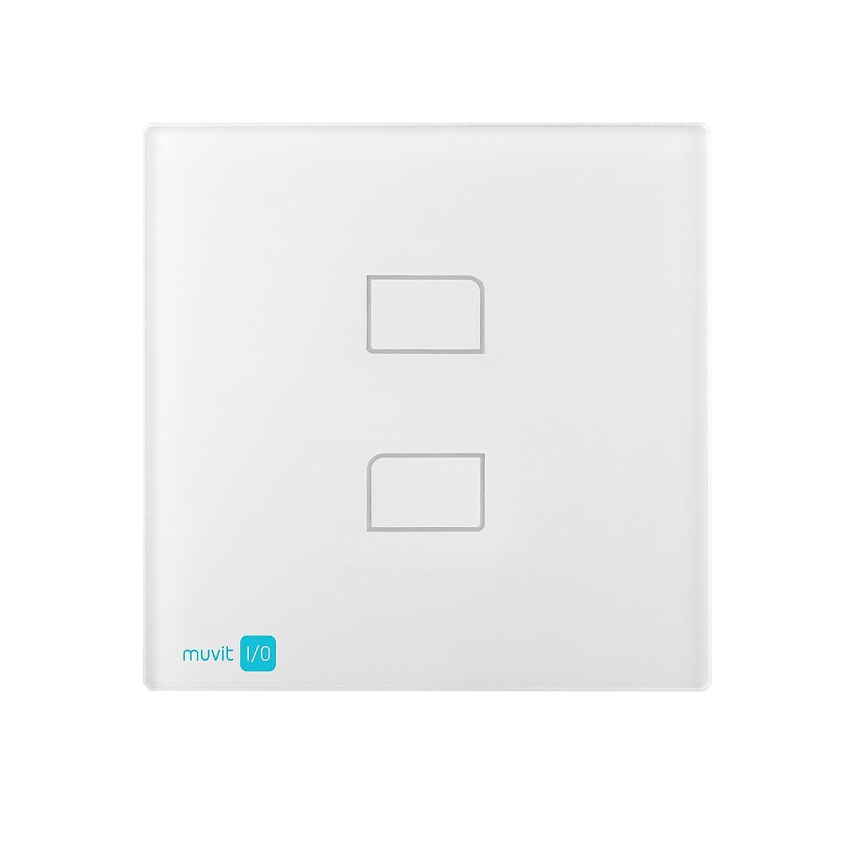 Muvit I//O MIOIPW002 Interruptor de Pared Doble por Radio Frecuencia