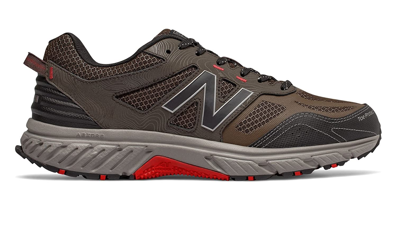 New Balance Men's 510v4 Cushioning Trail Running Shoe B07B6ZFPNM 1.5 4E US Chocolate/Black/Team Red