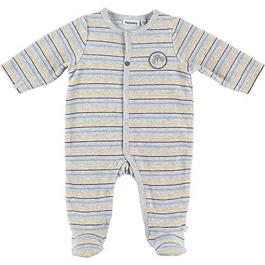2ccc5895a5324 Noukie s Noukies Z883131 Pyjama grenouillère en Velours Bébé Garçon   Amazon.fr  Vêtements et accessoires