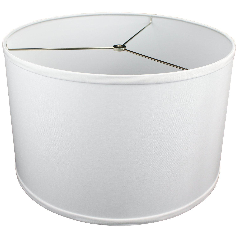 FenchelShades.com 16'' Top Diameter x 16'' Bottom Diameter 10'' Height Lampshade USA Made (White)