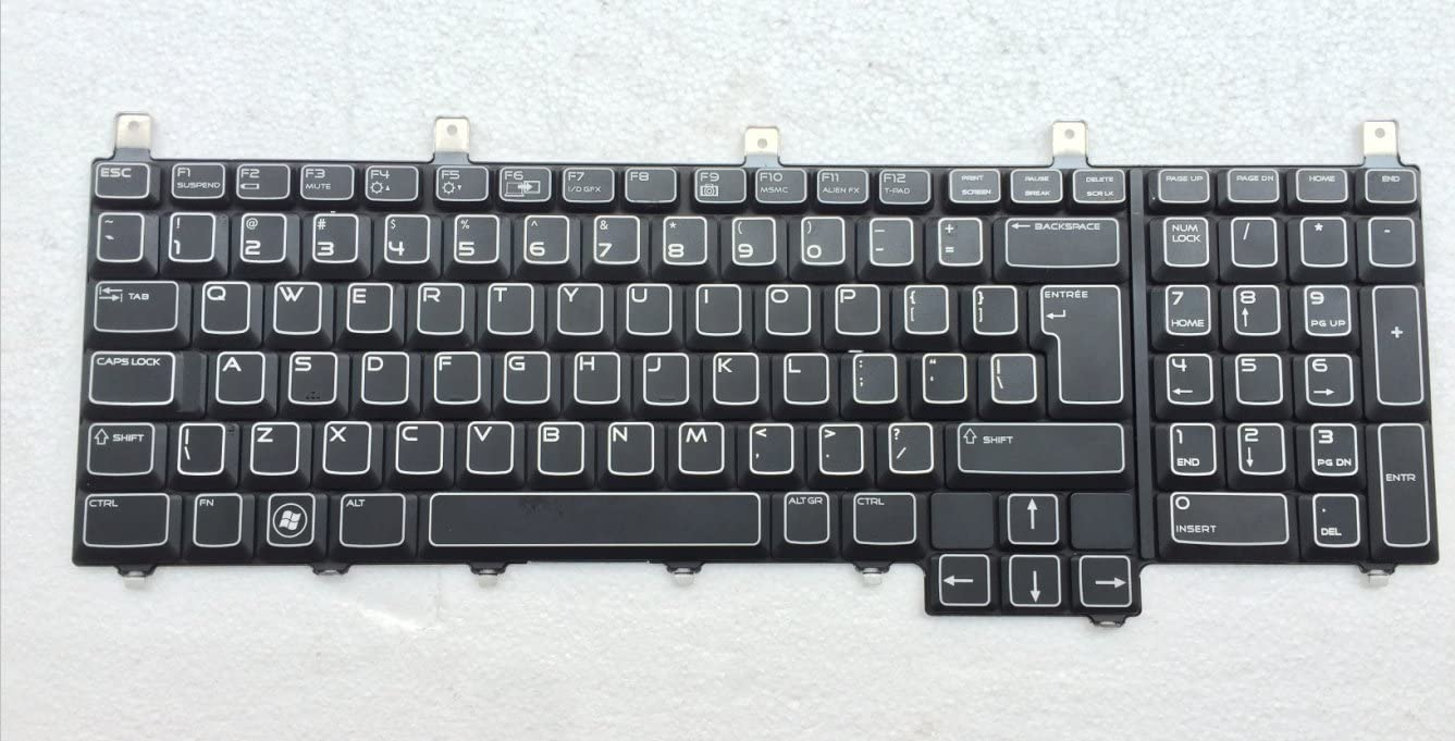 New Keyboard for Dell Alienware M17X R3 R4 Notebook US Layout P/N: PK130FJ1A10 NSK-D8DOA CN-06N7CT-65890-1CH-OBAP-A01 06N7CT NSK-D8DOA Black Backlight