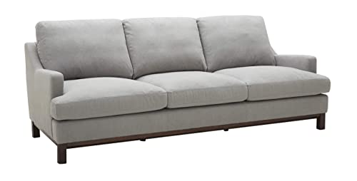 Stone Beam Genesse Sectional Sofa Couch, 91 W, Smokey Blue