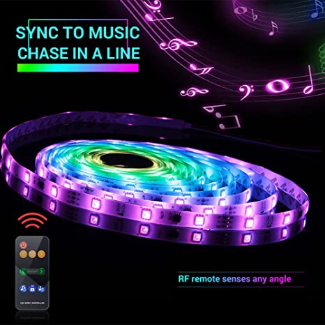 Amazon led strip lights sync to music 5m1654ft chase effect led strip lights sync to music 5m1654ft chase effect led lights kit aloadofball Gallery