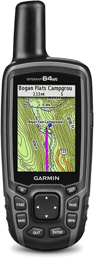 Garmin GPSMAP 64st, TOPO US 100K con GPS de alta sensibilidad y receptor de vidrio (reacondicionado certificado)