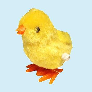 De Cuerda Esponjoso Amigo Amarillo Pascuas Pollito Amazon Es Juguetes Y Juegos