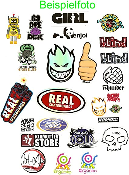 Juego de pegatinas de marcas para skateboard: Amazon.es: Oficina y ...