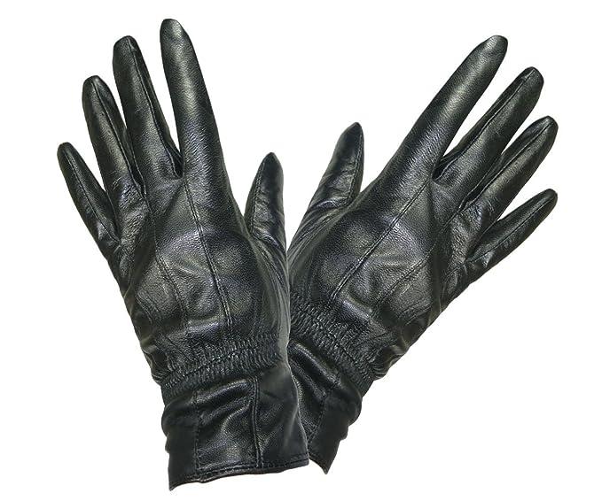 43d44c36fd68d TOSKATOK® weich und geschmeidig DAMEN QUALITÄT schwarze Lederhandschuhe   Amazon.de  Bekleidung