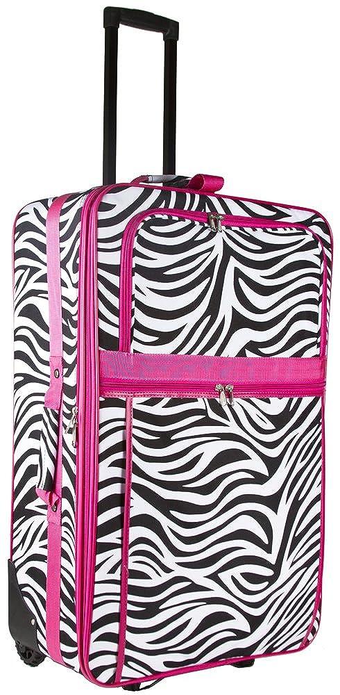 Zebra Print 2 Piece Luggage Set
