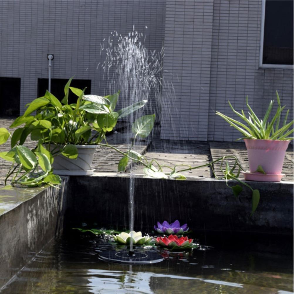 ... exterior, funciona con energía solar, para pájaros y baños, con panel solar de 1,4 W, bomba de agua, sumergible para estanque, piscina, jardín, pecera, ...