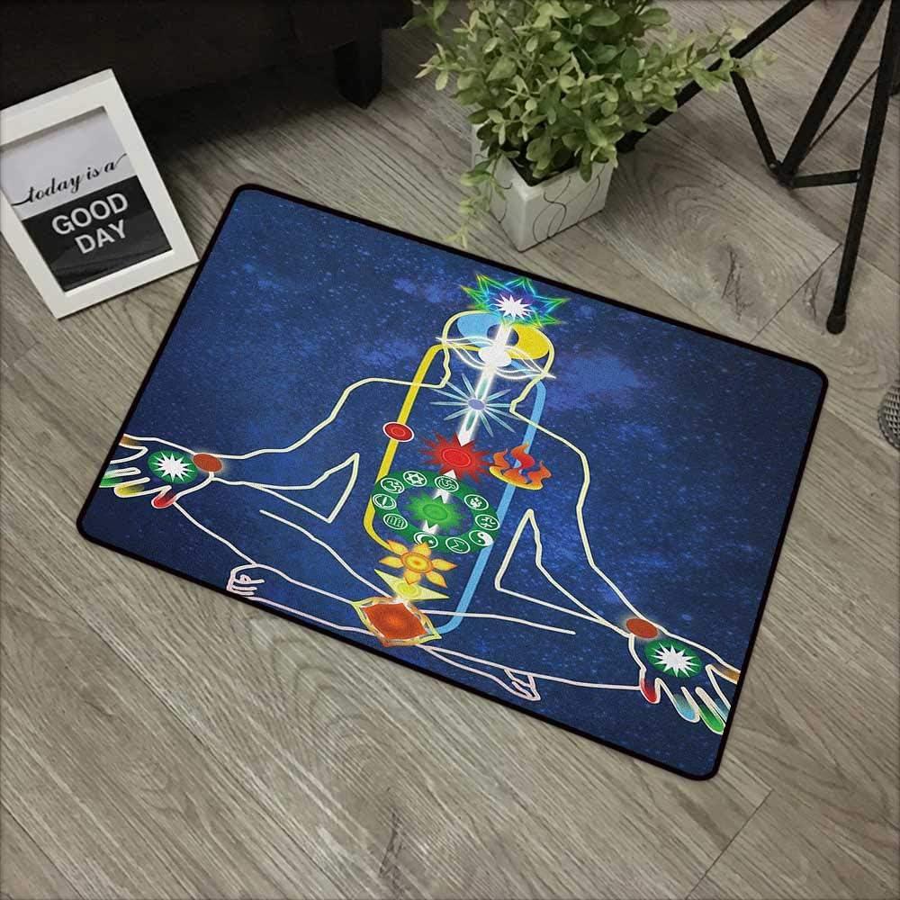 Alfombrilla de baño con diseño de Yoga, arcoíris y Acuarelas con ...