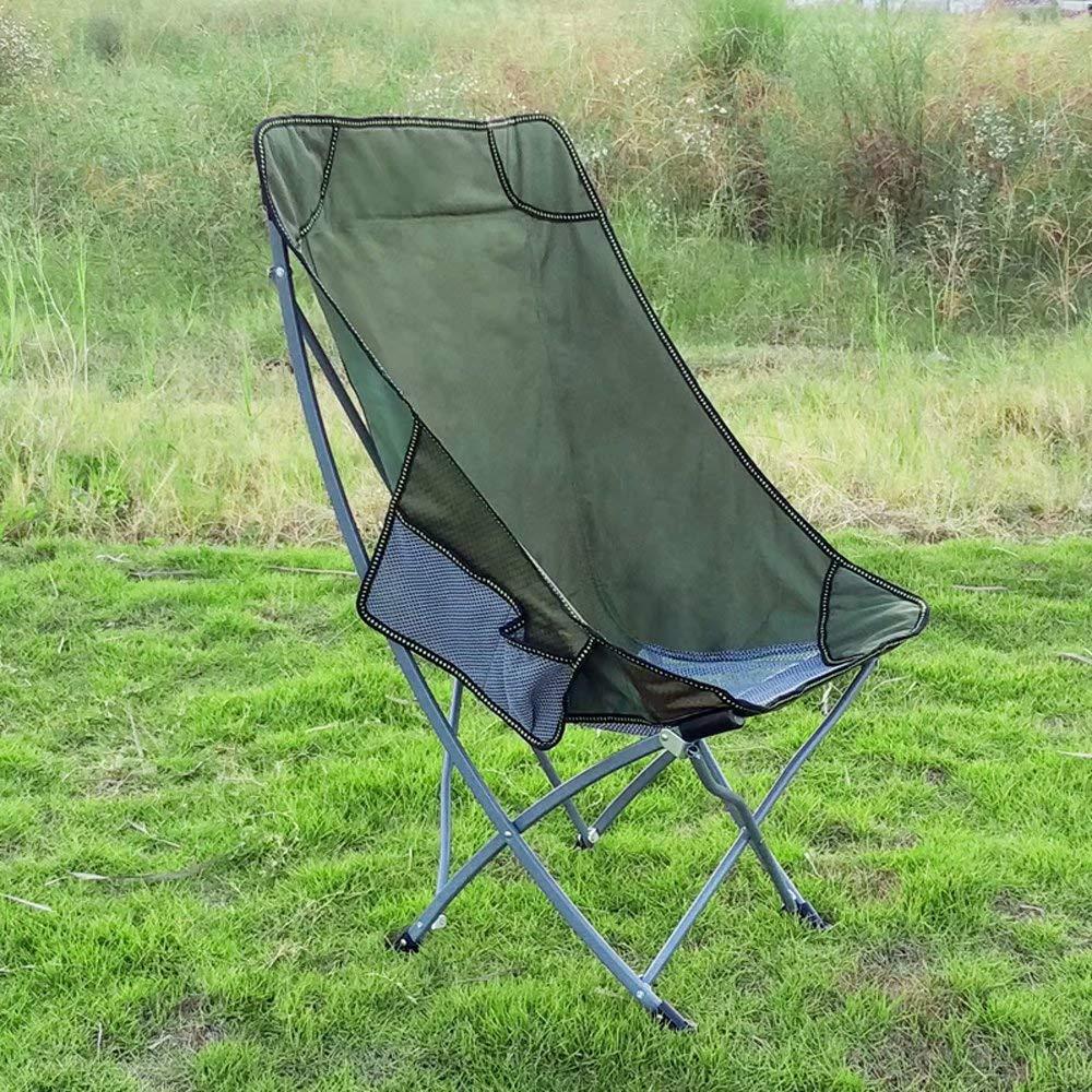 Grün XHINB Klappstuhl-XH-Outdoor Tragbarer Angelstuhl Hocker Freizeit Zurück Stuhl Strand Mond Stuhl Camping Tisch und Stuhl  k