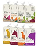 Serenity Kids Baby Food, Organic Savory Veggies and Ethically Sourced Meats Variety Pack, For 6+ Months, 3.5 Ounce Pouch…
