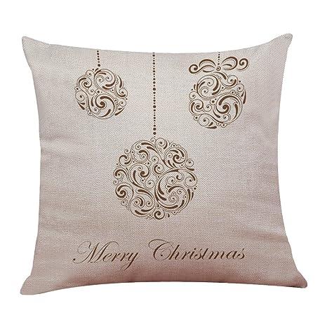 Adorno para Fiesta de Navidad Nueva Funda de Almohada de Lino de algodón de Navidad sofá