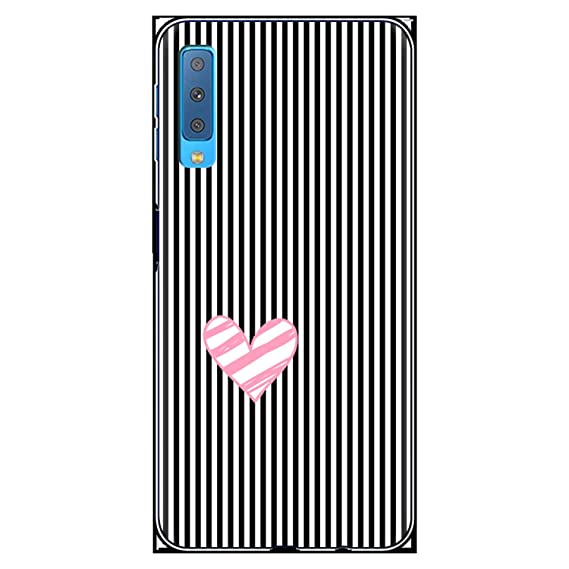 Amazon.com: Heart Lover Stripe Cases for Coque Samsung ...