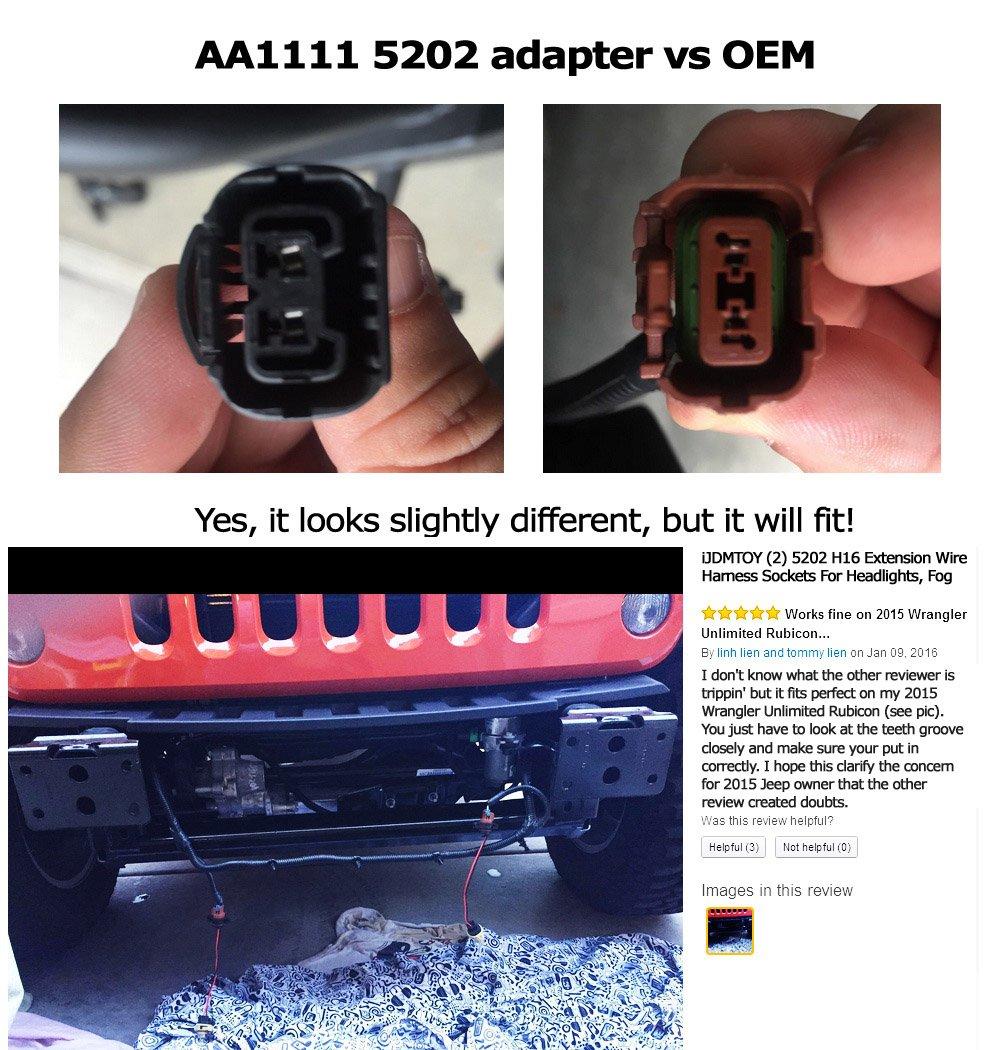 Ijdmtoy 2 5202 H16 Extension Wire Harness Sockets For 350z Headlight Wiring Headlights Fog Lights Retrofit Work Use Automotive
