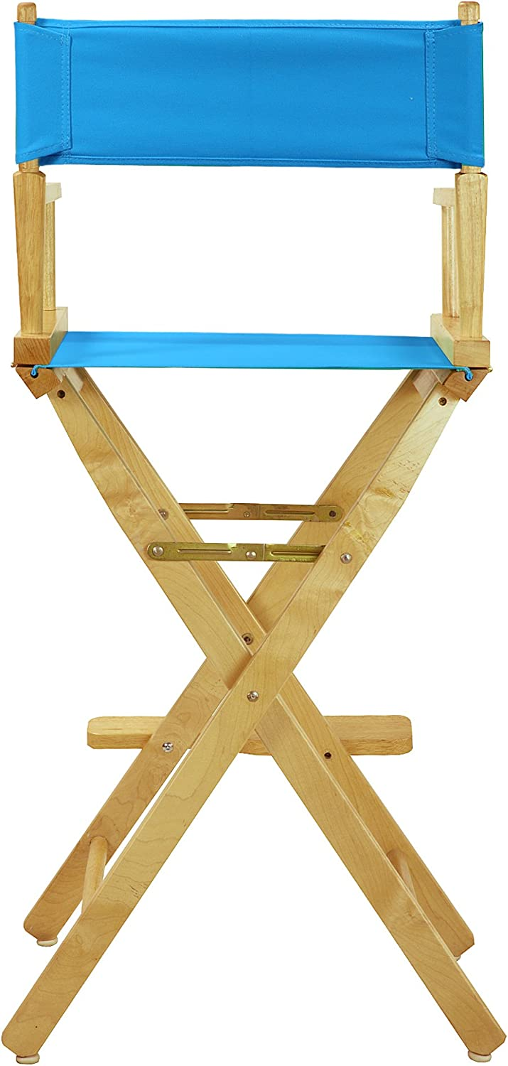 Casual Home 230-00//021-27 Director Chair 30 Bar Height Natural Frame//Turquoise Canvas