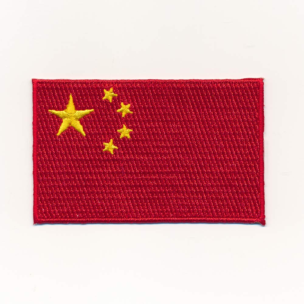 hegibaer 30 x 20 mm Volksrepublik China Flagge Mao Peking Aufb/ügler Aufn/äher 1093 Mini