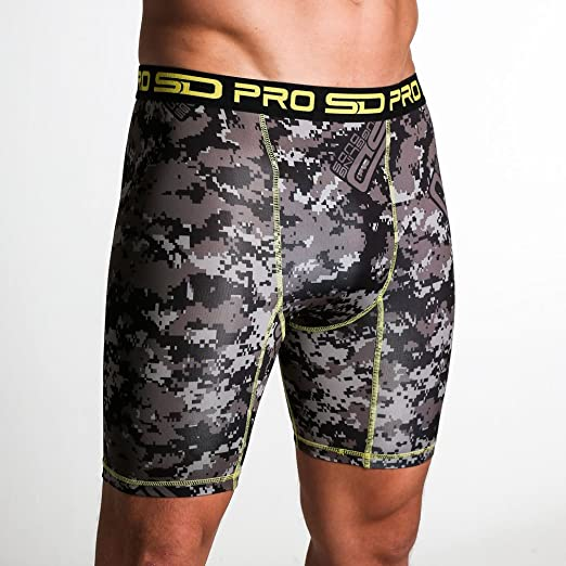 Jungle Camo SD Pro Range Compression Shorts with Groin Cup