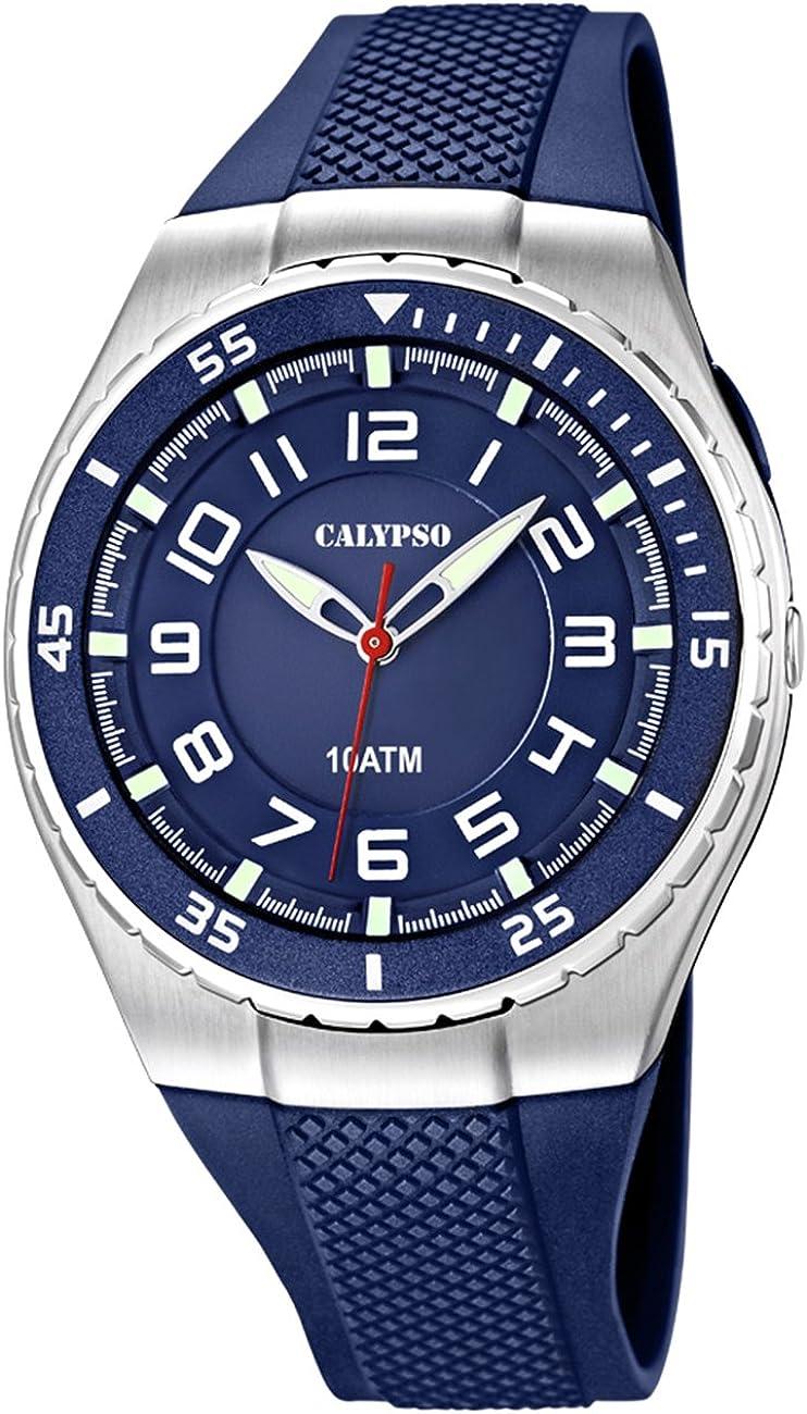 Calypso watches cal-21782 - Reloj para Hombres, Correa de plástico Color Azul Oscuro