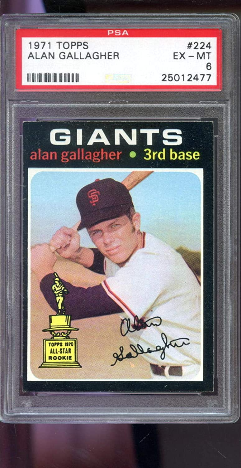 1972 Topps #693 Alan Gallagher Giants NM