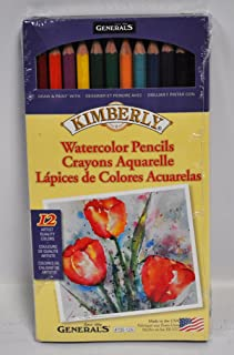 product image for Kimberly Watercolor Pencil Set 12 Assorted Colors 700-12A