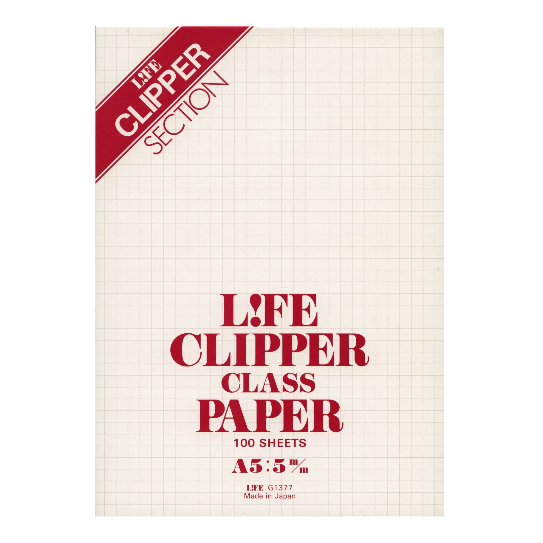 Life A5 size Clipper report pad, 5mm graph-ruled, 100 sheets G1377