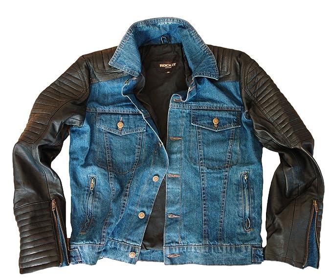 ROCK-IT leatherjeans chaqueta para hombre talla S a la XXXL cuero genuino chaqueta de