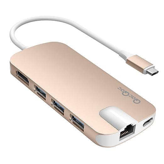 131 opinioni per Adattatore USB C QacQoc GN30H USB C hub con 1 connettore di tipo C( Per
