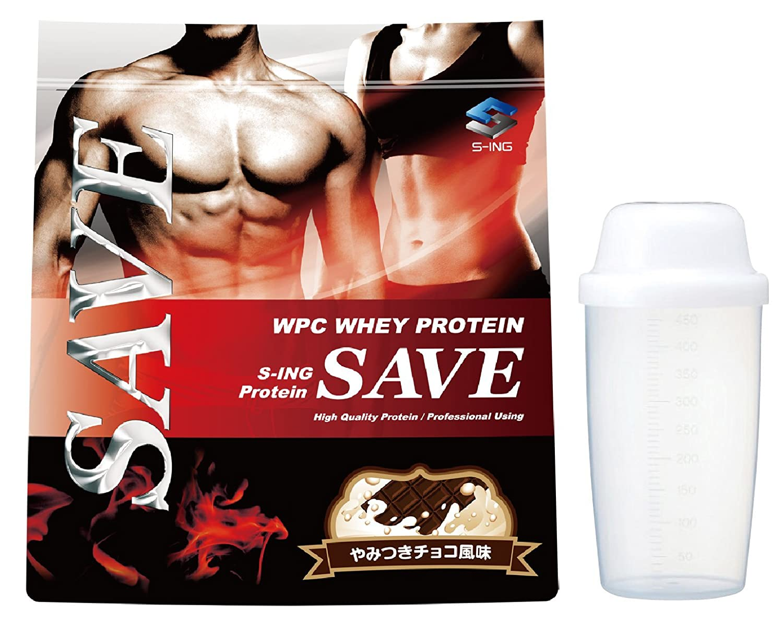 【シェイカー付】SAVE プロテイン やみつきチョコ風味 3kg 美味しいWPC ホエイプロテイン 乳酸菌バイオペリンエンザミン酵素配合 B07DVNGWH8