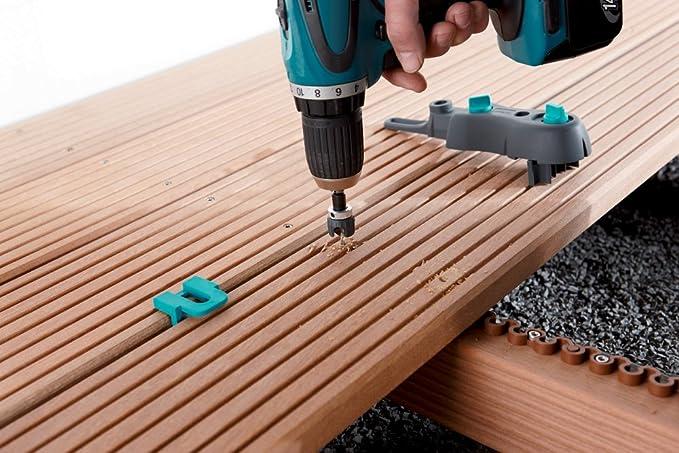 Wolfcraft 6988000 Kit De Pose De Terrasse Bois Argent Amazon Fr Bricolage