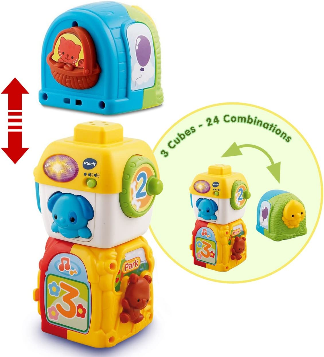 Amazon.com: VTech Stacking Animal Squares: Toys & Games