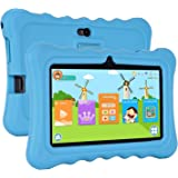 "Xgody T702 7"" Quad Core Android Kids Tablet PC 8GB ROM with Wifi and Camera and Games HD Kids Edition and Kid Mode Pre-Installed Support Bluetooth Micro USB SD Card Slot with Blue Silicone Case"