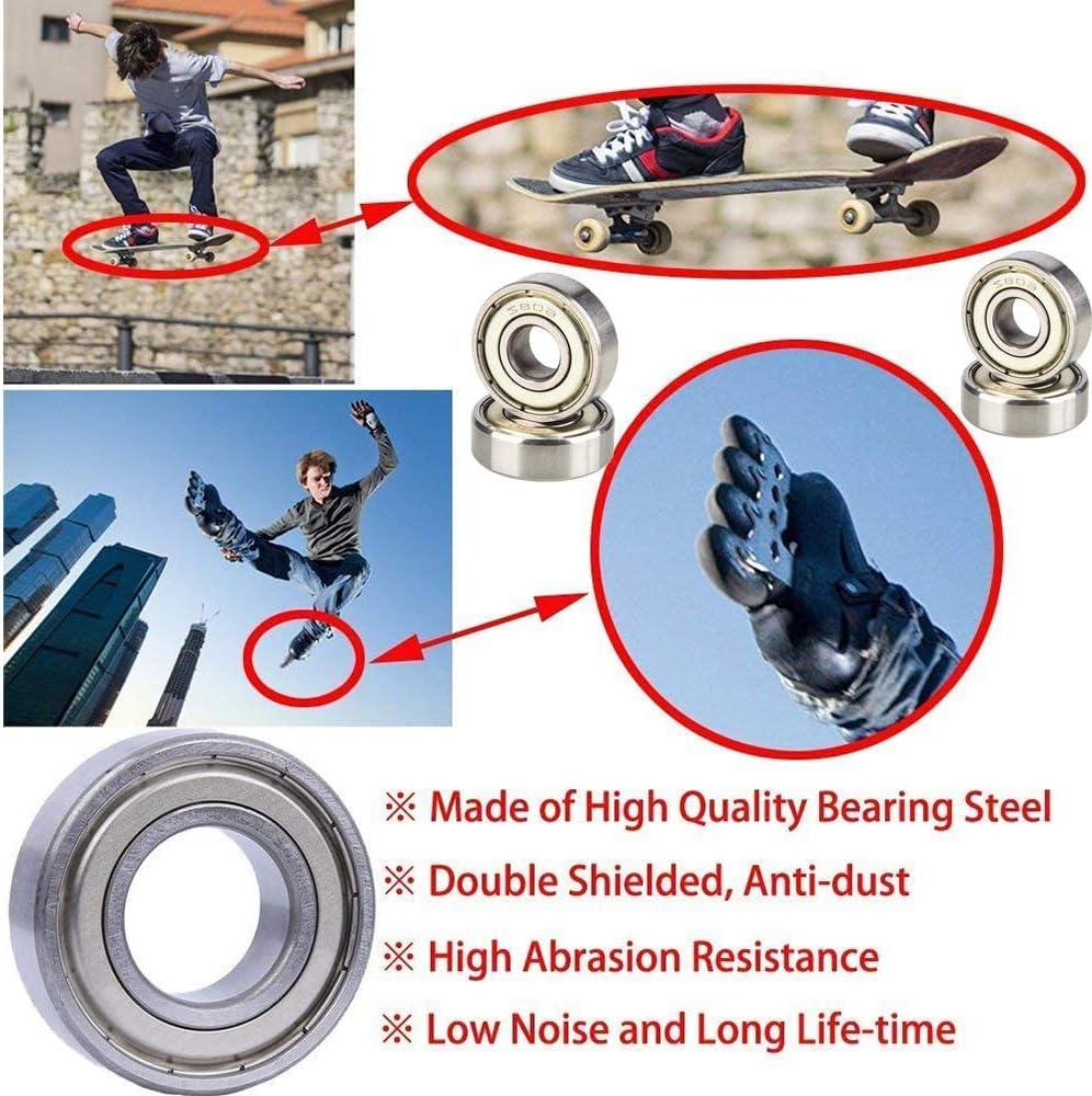 Skateboards und Kinderspielzeugautos verwendet 8mm x 22mm x 7mm f/ür Rollschuhe Dream HorseX Skateboard Kugellager Rillenkugellager Kohlenstoffstahl Miniatur Rollenlager 20 Pack 608 ZZ