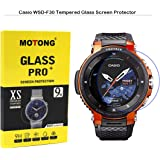 MOTONG for Casio PRO Trek Screen Protector - MOTONG Tempered Glass Screen Protectors for Casio PRO Trek Smart WSD-F30-BKAAE,9 H Hardness,0.3mm Thickness,Made from Real Glass